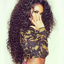 Wholesale Long Black Brazilian Curly Hair - 130% Density Lace Front Human Hair Wigs Brazilian Curly Full Lace Human Hair Wigs For Black Women FDSHINE