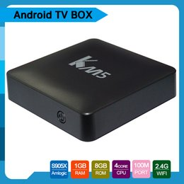 Wholesale Quad Internet - 2017 selling KD17.1 pre-loaded km5 Android 6.0 TV Box Amlogic S905X 1GB+8GB 4K WiFi Facebook Youtube android Smart internet boxes