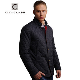Wholesale Mens Suits Mandarin - Wholesale- CITY CLASS New Mens Autumn Jackets And Coat Fashion Casual Slim Fit Sewing Suit Stand Collar Cotton Jacket Free Shipping 14777