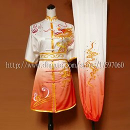 Wholesale Chinese Clothes For Boys - Chinese wushu uniform Kungfu clothes Martial arts suit taolu outfit changquan match garment for men women children boy girl kids adults