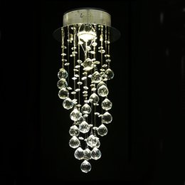 Wholesale Staircase Led Lights - Modern chandeliers rustic crystal chandelier dining room light lights Spiral Drop crystal chandeliers Stair Lights for Staircase