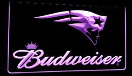 Wholesale Budweiser Led Sign - LS428-p-New-England-Patriots-Budweiser-Neon-Light-Sign Decor Free Shipping Dropshipping Wholesale 6 colors to choose