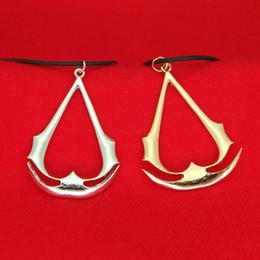 logotipo do credo assassins Desconto Assassin's Creed Colar de ouro LOGOTIPO De Prata Pingentes de Moda jóias para homens Mulheres Presente de Natal Transporte da gota