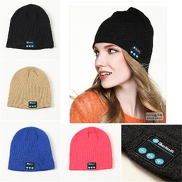 Wholesale Blue Sky Speaker - Bluetooth Hat Music Beanie Cap Bluetooth V4.1 Stereo wireless earphone Speaker Microphone Handsfree For IPhone 7 Samsung Galaxy S7 Music Hat