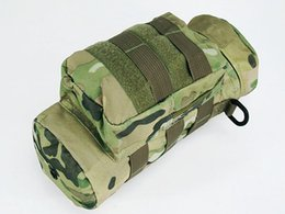 Wholesale Water Canteens - Molle Zipper Tactical Water Bottle Pouch Utility Medic Pouch Kettle Package Outdoor Canteen Travel Bag