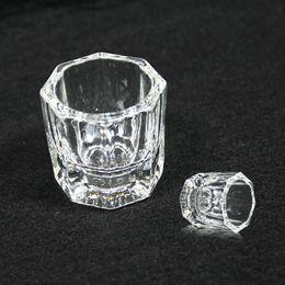 Wholesale Bowl Cup Acrylic Liquid Dappen - Wholesale- Nail Art Acrylic Crystal lass Dappen Dish Acrylic Liquid Holder Container Crystal Tint Bowl Art Equipment Cup Clear Tools