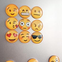 Wholesale Cute Magnets - Mixed 5 Pcs Cartoon emoji Glass Cabochon Magnetic Stickers Cute Emoji Pattern Dome Glass Fridge Magnet