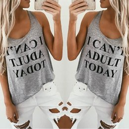 Wholesale Adult Graphics - Wholesale- I Can't Adult Today Graphic Top T-Shirt 529