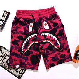 Wholesale mens loose tracksuit - Summer New Mens wommen lovers Sportswear Pants Jogger Tracksuit causel Crewneck Bird OVO Drake Black Hip Hop stusay Men Shark mouth trousers