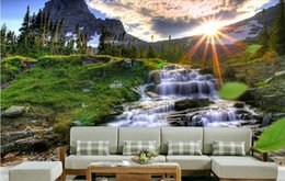 Wholesale Natural Style Landscaping - 3d room wallpaper custom photo mural Natural landscape National Park background painting picture 3d wall murals wallpaper for walls 3 d