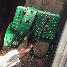 Wholesale Boston Bag Strap - hollow shoulder strap bag rivet crossbody bag individual designer handbags high quality bf women leather handbag luxury clutch