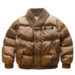 Wholesale Winter Jacket For Boys - Baby Boys Jacket 2017 Winter Jackets For Boys Outerwear Coats Children Bomber Jacket Kids Warm Cotton-Padded Clothes