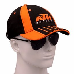Wholesale Black Riding Hat - Wholesale 2017 Latest KTM Racing Cap Motocross Riding Caps Women Men Casual Adujustable Hat Baseball Leisure Baseball Caps