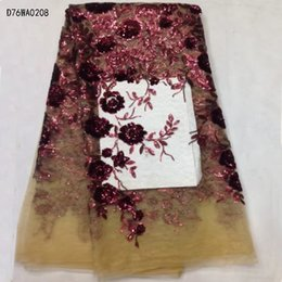 Wholesale Embroidery Voile - wholesale and retail Free shipping!High quality African embroidery lace fabric  swiss voile lace in switzerland  High quality wedding dress