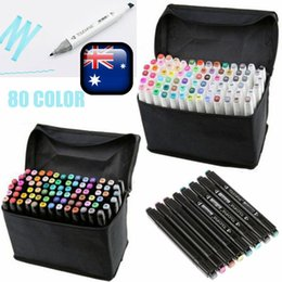 Wholesale Markers Sets - 80 Colors Artist Dual Head Sketch Copic Markers Set For School Drawing Sketch TD