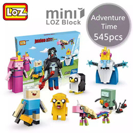 Wholesale New Small Toys - LOZ New Mini Blocks brinquedos Small Building Toys Adventure Time Auction Model Toy Finn and Jake Juguetes Cartoon Toys Gift for Girls 1818