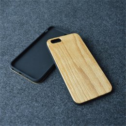 Wholesale Wood Skin Iphone Case - Genuine Wood Back Case for iphone6 6s Ultra Thin TPU Wooden phone skin cover fit for iphone
