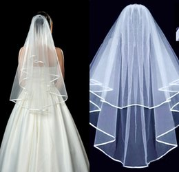 Wholesale Stock Layers White Veil - Hot Sale High Quality White Ivory 1.5 Meters Bridal Veils With Comb Two Layers In Stock Wedding Accessory Wedding Party Veil