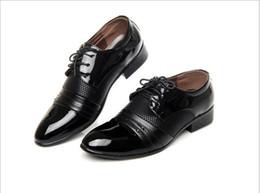 Wholesale Oxford Blue Color - HOT sale Big size 38-47 man dress shoe Flat Shoes different style and color Leathe Luxury Men's Business Oxfords Casual Shoe