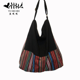 Wholesale Cotton Sling Bags - Wholesale- Hippie Hobo Sling Shoulder Bag Purse Handbag Handmade Zip Plain Cotton Gypsy Boho Messenger free shipping