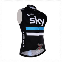 Wholesale Top Pro Jerseys - Hot sale! SKY team pro cycling jersey vest summer sleeveless bicycle Clothing Ropa ciclismo bike clothes cycling gilet