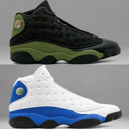 Wholesale Basket Ball Shoes Cheap - New Cheap Air retro 13 XIII Men Basketball Shoes Athletics Basket Ball Man Sport Sneaker Shoes Olive Black Army Green White Size US8-US13