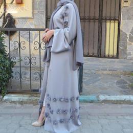Wholesale Cardigans Maxi Long Length - Elegant Abaya UK Muslim Women Abaya Maxi Dress kimono Cardigan Jilbab Middle East Long Robe Gowns Arab Ramadan Arab Islamic Clothing