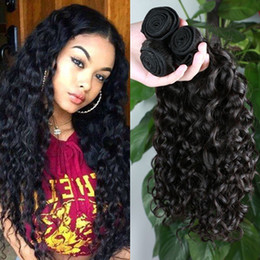 Wholesale Ocean Wave Hair - Brazilian Water Wave Brazilian Virgin Hair Ocean Wave 3pcs Lot Brazillian Curly Wet and Wavy Human Hair Bundles charming Hair