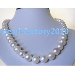 """Wholesale Gold 13 Pendant - huge 18"""" 13-12MM SOUTH SEA NATURAL White PEARL NECKLACE 14K GOLD CLASP"""