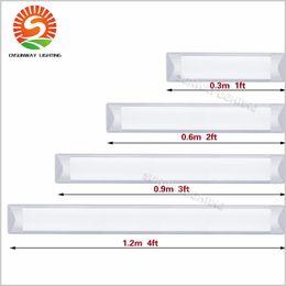 2019 plafonniers led t8 Les tubes T8 LED anti-déflagrants Batten Lights 1ft 2ft 3ft 4ft LED imperméabilisent le tube de lumières remplacent la lampe de grille de plafond de montage