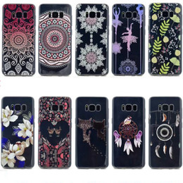 Wholesale Flexible Heart - Flower Soft TPU Case For Galaxy S8 Plus (J7 J5 J3 A5 A3)2017 Gel Cat Girl Flexible Heart Love Henna Paisley Mandala Dreamcatcher Skin Cover