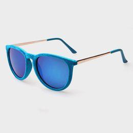 2018 Nuevo Marco de Gafas de lujo Cuadrado Mujeres Gafas de Moda de Felpa Marco Cómodo Vintage Gafas de Sol Azul Para Mujeres Hombres Oculos Regalo desde fabricantes