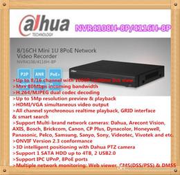 Wholesale Dahua Network Video Recorder - DAHUA 4ch 8ch 16ch Mini 1U NVR with 8POE Network Video Recorder support 1HDD NVR4108H-8P NVR4116H-8P