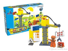 Wholesale Excavator Children Toy - 2017 HPD Boy And Girl Building Blocks Assembly Chidren Birthday Gift Engineering Car Scene Excavator Develop Child Intelligence Plastic Toys