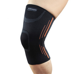 Wholesale Volleyball Knee Protectors - Elastic Sports Leg Knee Support Brace Wrap Protector Knee Pads Protector Safety Kneepad Sleeve Cap Patella Guard Volleyball Knee