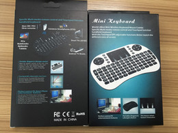 controle remoto android para caixa de mídia Desconto Teclado sem fio rii i8 teclados fly air mouse multi-media controle remoto touchpad handheld para tv box android mini pc com pacote de varejo