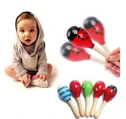 Wholesale Funny Baby Rattles - Funny Baby Kids Sound Music Gift Toddler Rattle Musical Wooden Colorful Toys