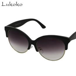Wholesale Sport Sunglases - Lukoko Retro Sun Vintage Sunglasses Women's Glasses Luxury Brand Designer Girl Oculos Female Sunglases Women 2017 Brands Ulo