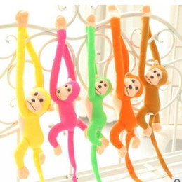 Wholesale Tails Doll - 60cm Lovely Curtains Baby Sleeping Appease Animal Long Arm Tail Monkey Stuffed Doll Plush Toys Birthday Christmas Gifts