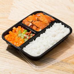 Commercio all'ingrosso 10 pz 1000 ML Scatole di Pranzo Usa E Getta Scatole di Imballaggio Scatola Bento Microwaveable Lancheira Stoviglie Contenitore per alimenti da