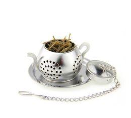 Wholesale Teapot Infuser Strainer - NEW Tea Infuser 3.8CM Teapot shaped 304 Stainless Steel Herbal Pot Tea Infuser Strainers Filter 100pcs Tea Ball