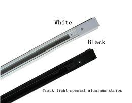 Wholesale Track Lighting Fixtures Wholesale - 50CM 1m LED track light rail aluminum track lamp lighting fixture rail 1 meter Universal rails track rail tubes 2 wire single phase version