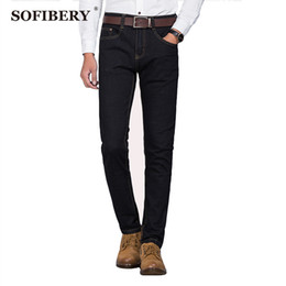 Wholesale Pattern Master - Wholesale-SOFIBERY master design brand men's business casual fashion jeans Slim stretch jeans plus size 28-48 direct reduced price 9887