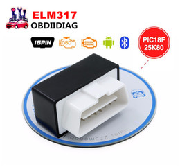 Wholesale Elm327 Switch - Super Bluetooth ELM327 V1.5 OBD2 OBD II CAN-BUS Diagnostic Car Scanner Tool for Android with Power Switch with PIC18F25K80 chip