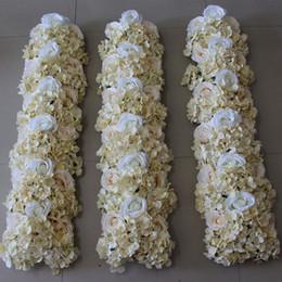 Simulação Casamento Rose Hortênsia Arranjo Flor Quadrado Decorativo Casamento Fundo Decorative10pcs / lot de Fornecedores de arranjos florais de rosas