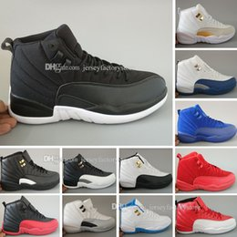 Wholesale Suede Rhinestone Boots - Basketball Shoes 12 Blue Suede Wool The Master Gym Sneakers Sports Shoes XII Tranining Shoes Athletic Taxi Boot Free Shipping