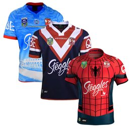Wholesale Top Men Shirt Shipping - Free shipping!NRL National Rugby League top quality 2017 Australia Sydney Roosters Rugby Jerseys 9S rugby shirts Roosters Jersey size S-3XL