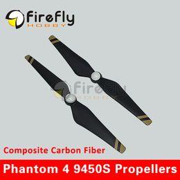 Wholesale Composite Carbon Fiber - Wholesale- 1pair 9450S Composite Carbon Fiber Propeller CC & CCW Self-tighten Propellers for DJI Phantom 4  PRO  PRO+