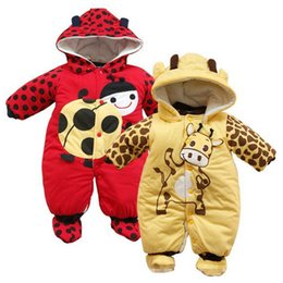 Wholesale Baby Winter Leopard Rompers - Autumn Winter Baby Clothes Baby Cotton Rompers Cartoon Boy girl Rompers Kids Clothes Wholesale And Retail JY030