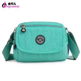 Wholesale Iphone Cross Body Bag - Wholesale- JINQIAOER Stylish Small Nylon Messenger Bag Women Waterproof Nylon Crossbody Bags Double Layer Satchels O Bag For Iphone Bolsa